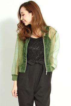 rosebullet (Rose Brit) ★ organdy blouson [JKA1CM0304] ★ ViVi official fashion mail   NET ViVi CC
