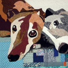 Custom Pet Art Quilt Wall Hanging | pennydogillustration | Etsy