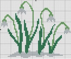 Snowdrops in the Snow Cross Stitch Tree, Cross Stitch Bookmarks, Simple Cross Stitch, Just Cross Stitch, Cross Stitch Flowers, Hand Embroidery Videos, Embroidery Works, Embroidery Hoop Art, Ribbon Embroidery