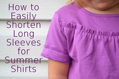 how to easily shorten long sleeves for summer shirts Sewing Hacks, Sewing Tutorials, Sewing Projects, Shirt Sleeves, Long Sleeve Shirts, Laundry Lines, Shorts Tutorial, Diy Clothing, Sewing Clothes