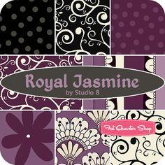 Royal Jasmine Fat Quarter Bundle Studio 8 for Quilting Treasures