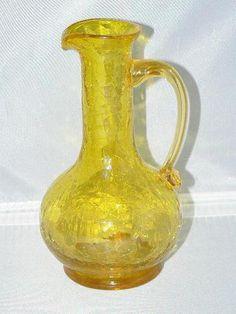 vintage crackle glass | eBay