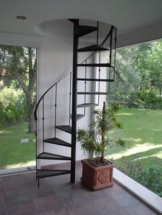 You will admire these fascinating loft stairs ideas, they are innovative and fresh. Steel Stairs, Loft Stairs, House Stairs, Spiral Staircase, Staircase Design, Gate Design, House Design, Studio Loft, Modern Stairs