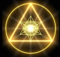 I visualize the larger golden triangle around me for protection when meditating