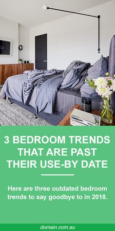 """While some bedroom trends reign supreme in the master suites (did someone say """"velvet""""), others are clearly past their use-by date. Here are three bedroom trends that need to disappear. Rustic Bedroom Design, Romantic Bedroom Decor, Bedroom Inspo, Home Bedroom, Master Bedroom, Home Design, Interior Design, Summer Bedroom, Futon Bed"""