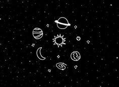 Imagen de galaxy, planet, and stars