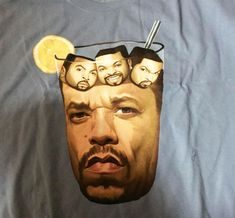 The Ice-T With Ice Cubes t-shirt is a shirt that takes the rappers Ice-T and Ice Cube and literally turns them into a glass of iced tea with ice cubes in it. Brilliantly designed by illustrator Marco . Tumblr Funny, Funny Memes, Hilarious, T-shirt Humour, Celebrity Memes, Tastefully Offensive, Ice T, Laugh Out Loud, The Funny