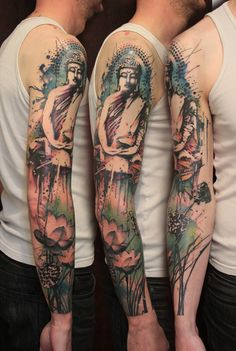 buddha tattoo by Gene Coffey?