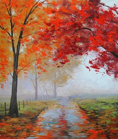 Road through the mist by ~artsaus. I think this may a be a new favorite artist!! Love the work!