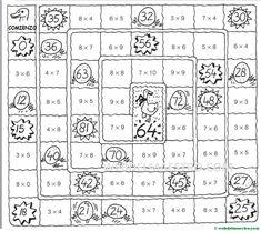 Juegos de matemáticas para imprimir - Web del maestro Word Search, Worksheets, Puzzle, Words, Ideas, Poster, Pink, 5 Times Table, Teaching Multiplication