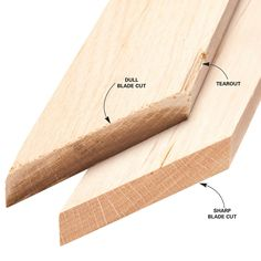 """Use a Sharp Saw Blade - You can't cut perfect miters with a dull blade, one with too few teeth or one that's designed for ripping. Check your blade for sharpness by cutting a 45-degree miter on a 1x3 or larger piece of oak or other hardwood. If the blade cuts smoothly with very little pressure and leaves a clean, almost shiny cut with no burn marks, it's sharp enough to cut good miters. When you check your blade or shop for a new one, look for one labeled as a """"trim"""" or """"fine crosscutting""""…"""