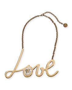 J8958 Lanvin Golden Love Pendant Necklace
