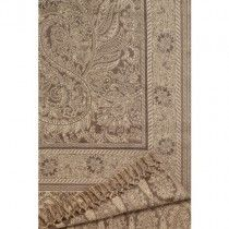 Nobilis 'Plaid Des Kashmir Taupe' Throw