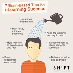 key principles from neuroscience research paired with tips that will allow course creators to achieve effective eLearning development.