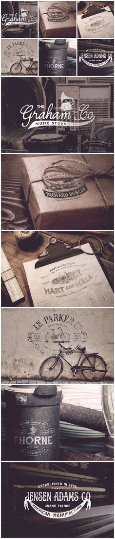 19th Century Vintage Logos by Victor Barac on Creative Market