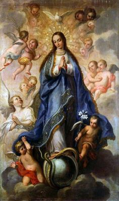 Lessons from the Divine Office for Tuesday in the Octave of The Immaculate Conception of the Blessed Virgin Mary: From the Dogmatic Bull of Pope Pius IX: Mother Of Christ, Blessed Mother Mary, Divine Mother, Blessed Virgin Mary, Religious Paintings, Religious Art, Virgin Mary Art, Immaculée Conception, Jesus E Maria