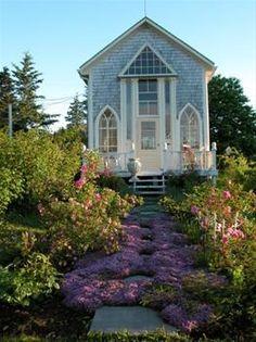 Lavender Cottage - Nova Scotia  Looks more like a church?? Love it though
