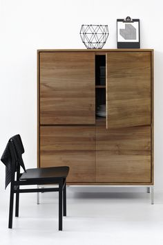 Stylish storage is a must-have for any minimalist design lover. Store books, dishes, serving pieces and more in Ethnicraft's Teak Essential Cupboard for a clutter-free space you'll love.