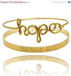 SALE SALE SALE Sale - set of bracelet , bangle and personalized bracelet, herat, ininity, symbol, friendship