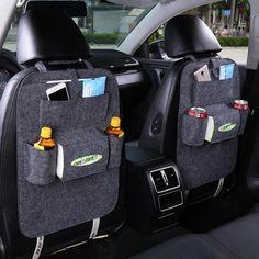 Car Back Seat Storage Bag Car Seat Cover Organizer Trash Net Holder Multi-Pocket Holder for Organizer Auto Storage Pouch Ford Focus 2, Car Storage Box, Seat Storage, Food Storage, Hanging Storage, Auto Styling, Car Seat Organizer, Leather Car Seats, Ideas