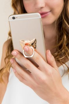 Cat Shaped iPhone Ring Stand