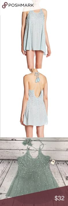 Free People Just Watch Me Slip Sequin Halter Dress Halter neck with tie closure - Open back - Allover sequin detail - Partially lined Free People Tops