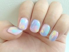 Cute pastel nail art nails nail pretty colorful nails pretty nails pastel nails nail ideas nail designs, no tut Art D'ongles Pastel, Pastel Color Nails, Pastel Colors, Pastel Pink, Pastel Watercolor, Pink Blue, Colorful Nails, Yellow Nails, Light Colors