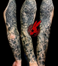 19aa8078bf4da Viking Skulls Smoke Sleeve Tattoo Jackie Rabbit by jackierabbit12 on ...  Smoke Tattoo,