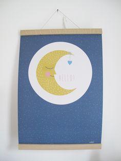 Poster  Poster Mond, A3 gedruckt auf Recyclingpapier. Wird in einer Papprolle geliefert. 10,90 € inkl. MwSt., zzgl. Versandkosten