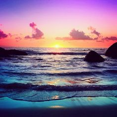 ♥ beach @ sunset