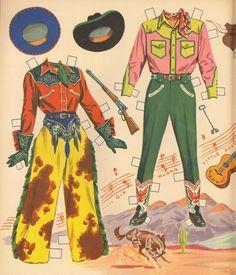 Cowboy Art, Cowboy And Cowgirl, Vintage Cowgirl, Le Far West, Vintage Paper Dolls, Western Art, Vintage Posters, Art Inspo, Cowboys