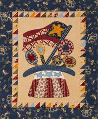 This free pattern can be found on the All People Quilt website.  Folk art anything is another one of my favs!  ~Kelly