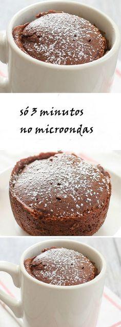 receita bolo de caneca de microondas