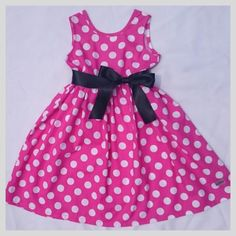 Pink Polka 1 -2 years | Lil Joy pty (ltd). Pefect for mickey mouse party or because!! Mouse Parties, Toddler Dress, Mickey Mouse, Joy, Summer Dresses, Girls, Party, Pink, Fashion