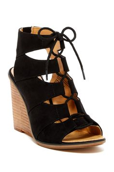 Calita Fab Wedge Sandal - Wide Width Available by Melrose and Market on @nordstrom_rack