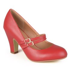 Journee Collection Women's 'Peter' Classic Matte Finish Mary Jane Pumps | Overstock.com Shopping - The Best Deals on Heels