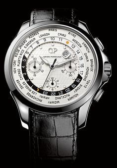 Girard-Perregaux Traveller WW.TC And Moon Phase #Girard-Perregaux #watch