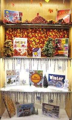 Fall and Winter | Library Book Display