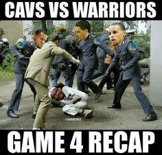 GAME 4 RECAP: Warriors vs. Cavs. - http://nbafunnymeme.com/nba-memes/game-4-recap-warriors-vs-cavs-4