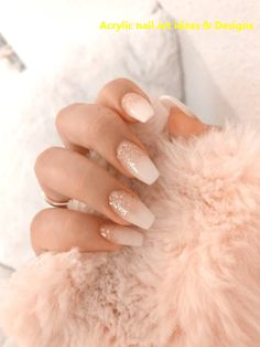 20 GREAT IDEAS HOW TO MAKE ACRYLIC NAILS BY YOURSELF 1 #nailideas #naildesigns Best Acrylic Nails, Acrylic Nail Art, Acrylic Nail Designs, Pink Nail Designs, Baby Pink Nails Acrylic, White Glitter Nails, Gold Glitter, Glitter Art, Sparkle Nails