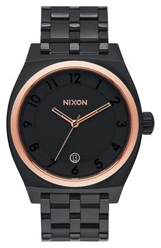 Nixon 'The Monopoly' Watch, 40mm at Nordstrom.com. A clean, numbered dial displays on a chunky watch case finely brushed for subtle texture. A five-link bracelet lends a classy finish.
