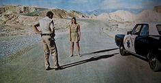 Daria Halprin in Antonioni's Zabriskie Point, 1970