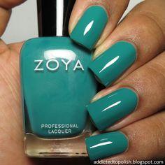 Zoya Cecilia | Addicted to Polish Mani Pedi, Manicure, Nail Polishes, Blue Nails, My Nails, Kinds Of Colors, Nail Polish Collection, Turquoise Color, Nails Inspiration