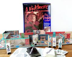 """A vintage 1989 """"A Nightmare on Elm Street"""" board game for your Halloween game night!"""