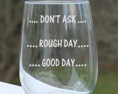 Popular items for etched stemless wine on Etsy