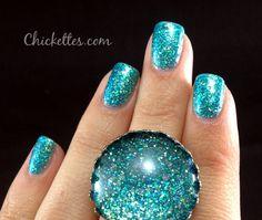 Julep nail polish, color: Harper (teal, blue, green micro-glitter) I call this my mermaid nail polish :) 2012
