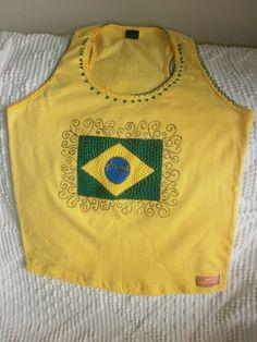 Nadador com Bandeira do Brasil