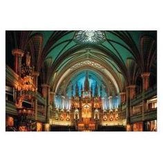 "Glow in the Dark 1000 Piece Jigsaw Puzzle, 19.6"" X 29.5"" - Notre-Dame De Montreal"