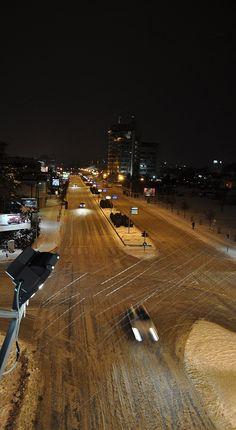 snowy night - , Skopje