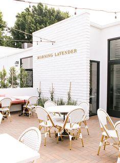 French Coffee Shop, Cute Coffee Shop, Coffee Shops, Cafe Shop Design, Coffee Shop Interior Design, Cafe Exterior, Interior Exterior, Coffee Shop Aesthetic, Plywood Furniture